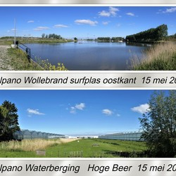 collage Snel pano  Wollebrand surfplas en Waterberging hoge beer 15 mei 2020