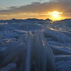 Sunset at frozen lake 2