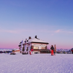 Zonsondergang in Zuid Tirol Italië