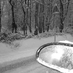 Over vallen door de sneeuw