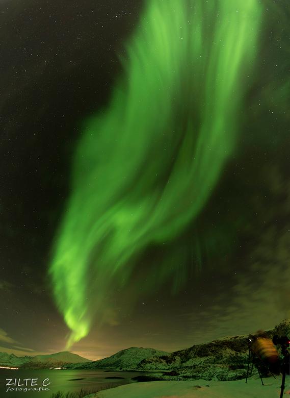 Northern Lights Norway - Tussen al het voorjaarsgeweld een foto van mijn zicht op het Noorderlicht in Noorwegen. Wat was dat een ervaring... Heel gaaf