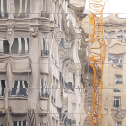 Weerspiegeling oud in nieuw - Zaragoza