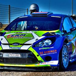 Rally auto klaar voor de start