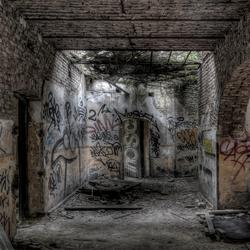 dit deel van het fort is vast voor dakloze soldaten