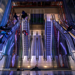 Roltrappen in Markthal Rotterdam