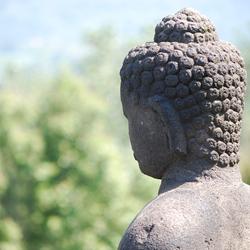 Buddha op de Borobudur