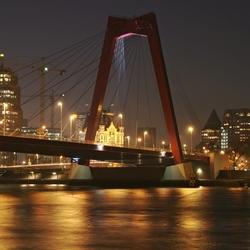 Willemsbrug, Rotterdam by night