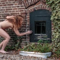 peeping woman