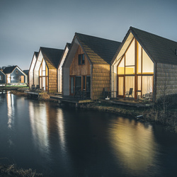 Water cabins.