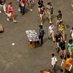 Verkoper in Firenze