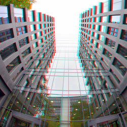 Building Blaak 16 Rotterdam 3D Fish-eye