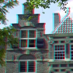 Grachtpanden Utrecht 3D