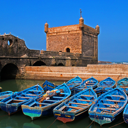 Vissersbootjes Essaouira 2 (Marokko)