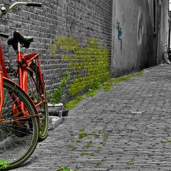 Bewerking: Rode fiets