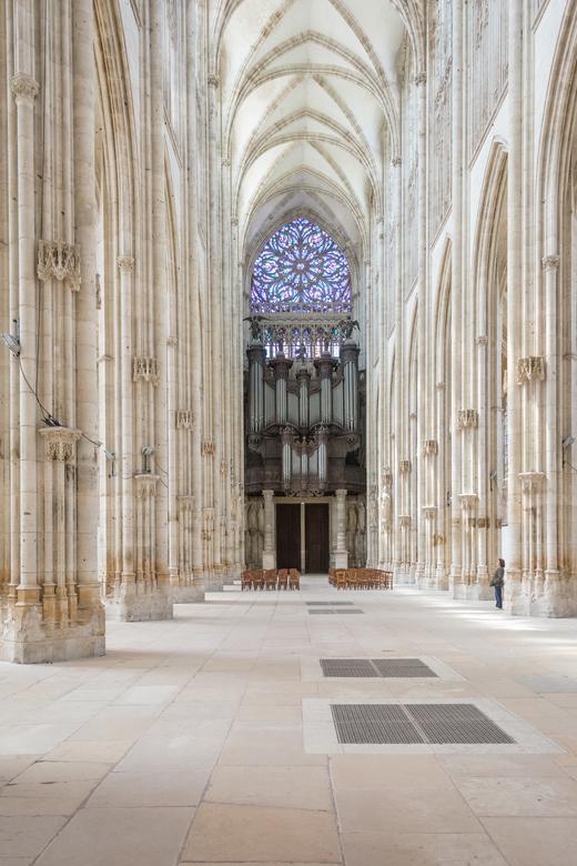 Saint-Ouen Rouen (F) - Het wereldberoemde orgel van Aristide Cavaillé-Coll in de Saint-Ouen van Rouen.
