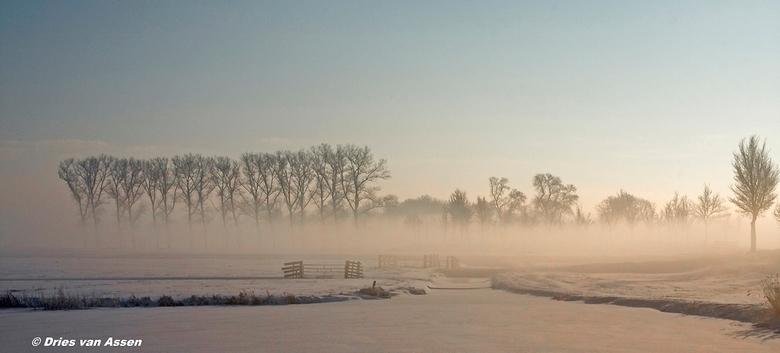 Zon,sneeuw en mist. - WEL EVEN IN HET GROOT BEKIJKEN A.U.B.