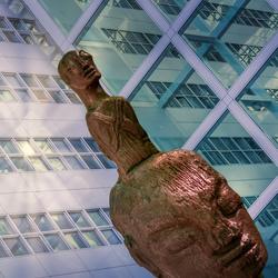Statue & glass