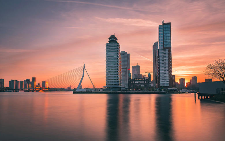 Rotterdam Sunrise - I took this picture in the early morning in Rotterdam. The city of Rotterdam is known for it&#039;s innovative architecture.<br />
