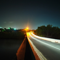 Cruising through the night.