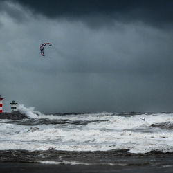 Rider in the storm