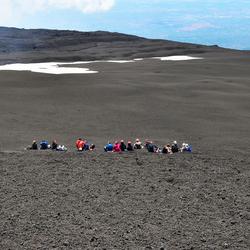 Lunch op de Etna