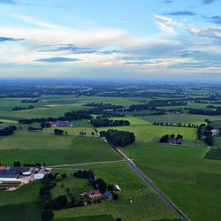 Landschap vanuit een ballon