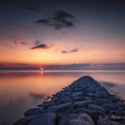 Waddenzee zonsondergang (Koehool)