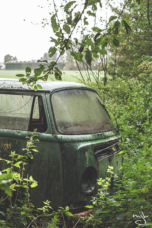 Green VW -