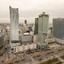Warschau - Uitzicht vanaf het Paleis van Cultuur en Wetenschappen met Zlota 44 gebouw