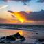 Zonsondergang Ameland strand