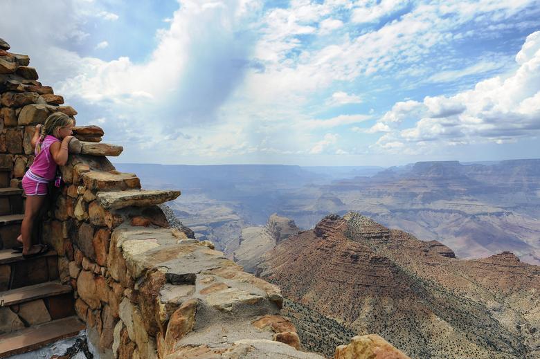 """Grand Canyon - Uitzicht vanaf de """"Desert View Watchtower"""" over de Grand Canyon."""