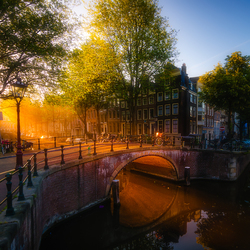 Morning glow in Amsterdam