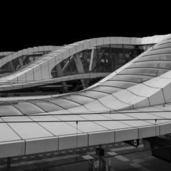 Station Arnhem-perron overkapping.