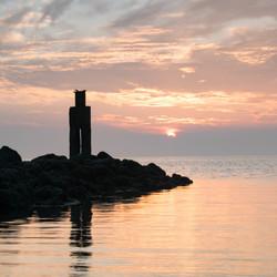 zonsondergang Brouwersdam