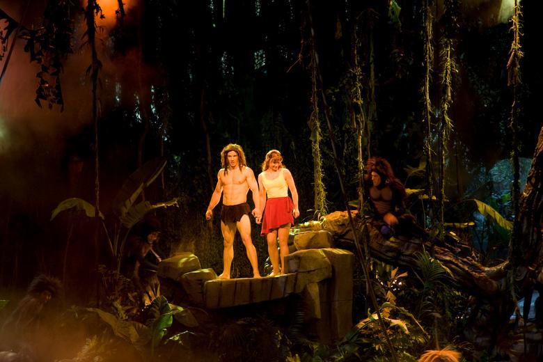 Tarzan Encounter 2 - Tarzan & Jane tijdens de Tarzan Encounter in Disneyland Parijs