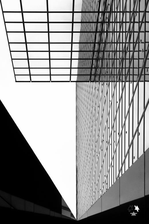asymmetrie nn - detail van nationale nederlanden rotterdam