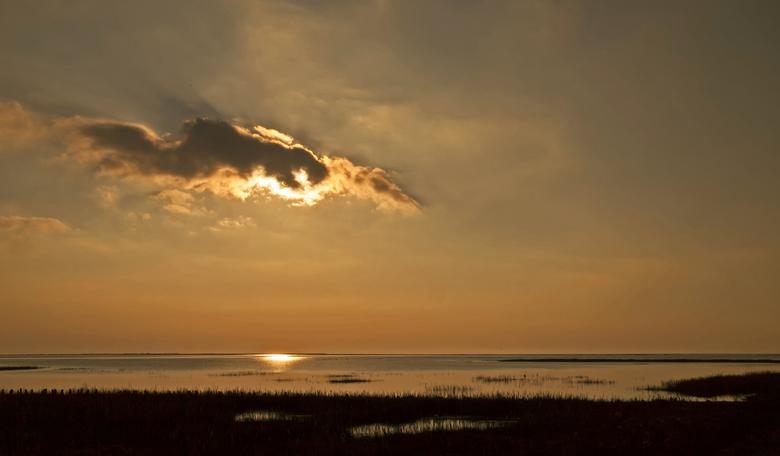 Laatste zonnestralen over Mandø