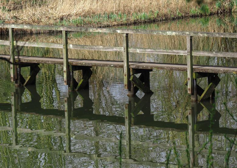 Brug Crezeepolder - detail van de brug in de Gorzen.