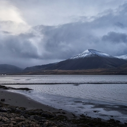 Brakarsund IJsland, slecht weer