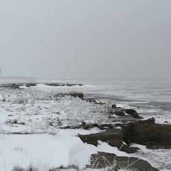 Winters zicht op Wierum