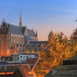 Hooglandsekerk Leiden herfst