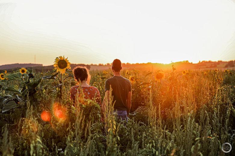 Romantic sunset -