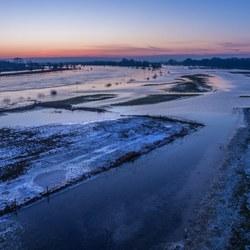 De IJssel voor zonsopkomst
