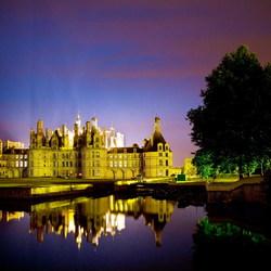 Chateau Chambord bij nacht