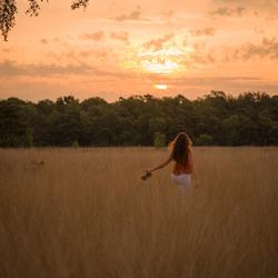 Gouden moment van blijheid en vrijheid