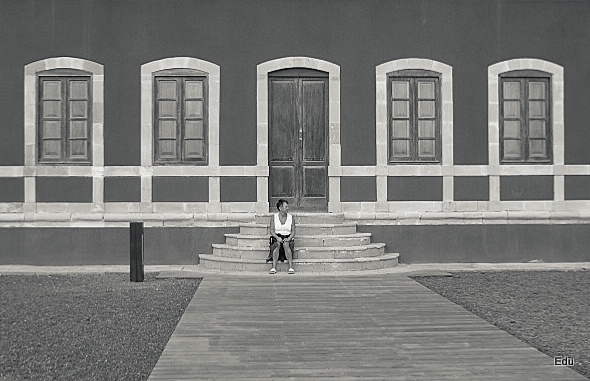Vier vensters - Strandhuis op Fuerteventura.