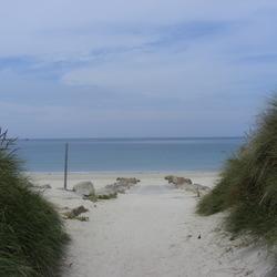 Een strand in Bretagne