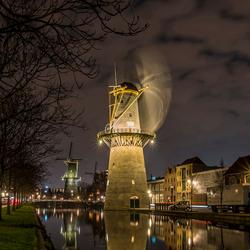 Draaiende molen Avond (2)