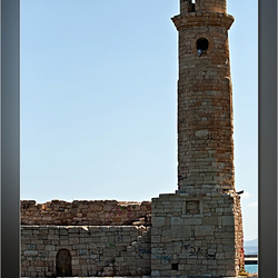 De vuurtoren in Rethymnon