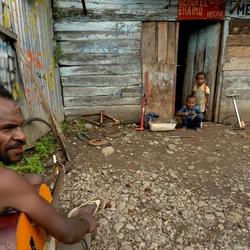 Sloppenwijk in Wamena